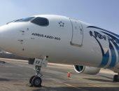"""صور .. أول طائرات مصر للطيران طراز  """"إيرباص 300-220"""" تصل القاهرة"""