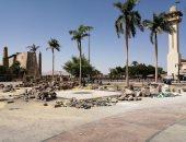 """صور.. مدينة الأقصر تبدأ تنفيذ خطة تطوير ميدان وساحة """"سيدى أبو الحجاج"""""""