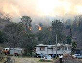 حرائق الغابات تلتهم المنازل والأشجار فى عدة ولايات باستراليا