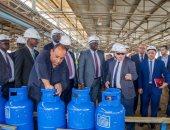 وزير بترول جنوب السودان يتفقد سير العمل بشركة بتروجت ومصنع بوتاجاز القطامية
