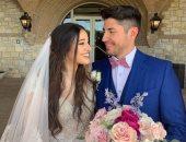 هبه الترك لاعبة الاسكواش تحتفل بزفافها