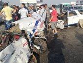 قارئ يشارك بصورة لحادث سير على طريق السويس