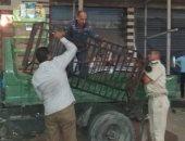 صور.. مرافق الغربية تشن حملة لرفع الاشغالات بنطاق حى أول وثان طنطا