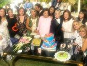 رجاء الجدواى تحتفل بعيد ميلادها.. وبوسى شلبى: العمر كله سعادة