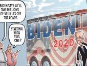 كاريكاتير USA Today يسخر من خطة بايدن لمواجهة تغير المناخ
