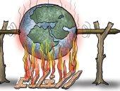 كاريكاتير الصحف العمانية .. الغلاء يحرق العالم