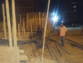 ضبط بناء مخالف فى حملة مسائية شرق الإسكندرية