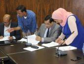 صور.. جامعة طنطا توقع عقود 12 مشروعا تنافسيا بقيمة 7 ملايين جنيه