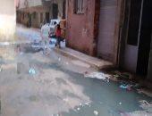 قارئ يشكو من انتشار مياه الصرف الصحى بشارع الأسيوطى بشبرا الخيمة