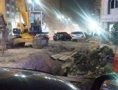 """أعمال حفر بطيئة بآخر شارع النادى.. شكوى """"كريم"""" من طنطا بالغربية"""