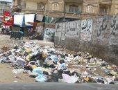 صور.. اضبط مخالفة: انتشار القمامة يهدد بكارثة بيئية فى شوارع المحلة