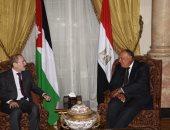وزير الخارجية يبحث مع نظيره الأردنى تطورات قضية فلسطين وأوضاع سوريا وليبيا واليمن