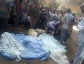 التصريح بدفن ضحايا حادث محور صفط اللبن وعرض السيارة المتضررة على مهندس فنى