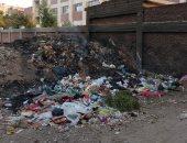 تراكم وحرق القمامة بجانب معهد الأزهر الإعدادى بالراملة.. شكوى سكان بنها