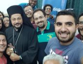 الأنبا باخوم يستقبل الاتحاد العالمى المسيحى للطلاب