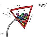"""كاريكاتير الصحف الكويتية.. """"الزحمة مع دخول المدارس"""""""