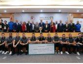 البنك الأهلى المصرى راعى اتحاد كرة اليد يكرم منتخب الناشئين بطل العالم