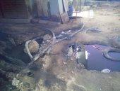 غرق شارع طومانباى فى سراى القبة بمياه الصرف.. وتحذير من حدوث ماس كهربائى