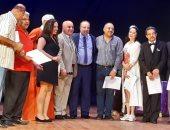 """تكريم العاملين بمسرح عبد الوهاب بالإسكندرية وأسرة مسرحية """"بحر الهوى"""""""