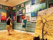 صور.. عام التسامح معرض يجمع 100 فنان فى دبى