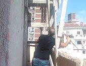 ايقاف 6 حالات بناء مخالف والتحفظ على مواد البناء بالإسكندرية