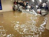 شاهد.. الأمطار تغمر مطار عاصمة الجزائر وسط شلل مرورى