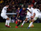 برشلونة ضد فالنسيا.. ماذا قدم سواريز وجريزمان في مبارياتهما السابقة ضد الخفافيش؟