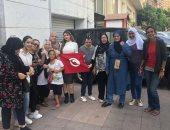 استمرار التصويت فى سفارة تونس بالقاهرة.. وناخب: نفسنا فى رئيس زى السيسى
