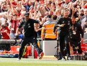 كلوب يثير الجدل خلال احتفاله بهدف ليفربول الأول ضد نيوكاسل.. صور