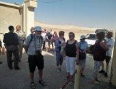 وفد سياحى من ألمانيا وسويسرا وإنجلترا يزور آثار المنيا