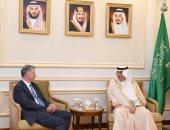 وزير الخارجية السعودى يستقبل المدير العام للشئون السياسية بالخارجية البريطانية