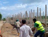 صور.. إيقاف أعمال بناء مخالف والتحفظ على لودر غرب الإسكندرية
