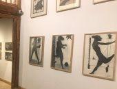 شاهد لوحات للفنان آدم حنين فى قاعة جديدة بمتحفه بالحرانية