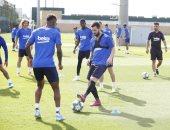 ميسي يعود لتدريبات برشلونة قبل مواجهة دورتموند