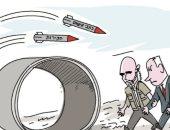 كاريكاتير إسرائيلى ساخر: جرائم فساد نتنياهو أكثر خطراً من صواريخ المقاومة
