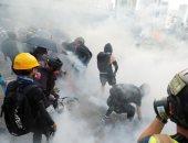 كر وفر بين الشرطة والمتظاهرين فى هونج كونج