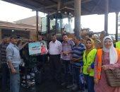 حملة توعية لعمال جراج وورش الهيئة العامة لنظافة الجيزة ضد مخاطر الإدمان