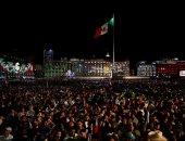 آلاف المكسيكيين يحتفلون بالذكرى الـ209 للاستقلال عن أسبانيا فى مكسيكو سيتى