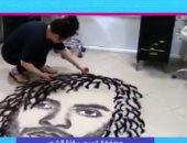 شيريهان أبو الحسن لمصففة تستخدم بقايا شعر الزبائن فى الرسم: فنانة محترفة