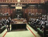 بيع لوحة البرلمان المتطور لـ بانكسى مقابل 10 ملايين دولار (فيديو)