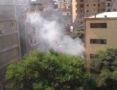 قارئ يشكو حريق القمامة داخل مدرسة بحلمية الزيتون.. ويؤكد: بنتى عندها حساسية