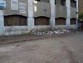 شكوى من تراكم القمامة أمام مدرسة السادادت بمركز ميت غمر بمحافظة الدقهلية