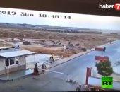 فيديو.. شاهد لحظة انفجار سيارة مفخخة أمام كمين أمنى تركى فى سوريا