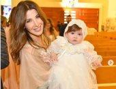 """نانسى عجرم تحتفل بتعميد ابنتها الصغيرة """"ليا"""""""