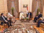 على عبد العال يلتقى رئيس مجلس الأمة الكويتى