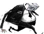 """كاريكاتير الصحف السعودية.. """"اليمين دراع الطولى لنتنياهو فى الانتخابات الإسرائيلية"""""""