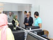 محافظ بورسعيد يتفقد مبنى الديوان العام بعد تطويره
