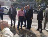 هبوط أرضى أمام الجهاز المركزى للمحاسبات ومحافظ القاهرة يتفقد المكان