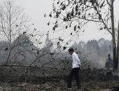 الرئيس الإندونيسى يزور مقاطعة متضررة جراء حرائق الغابات