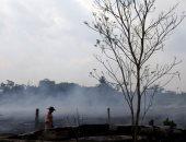رجال الإطفاء يحاصرون حرائق غابات الأمازون فى البرازيل